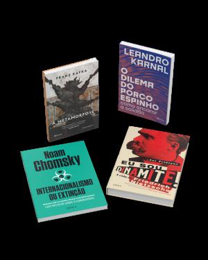 Kit 2: Clube do Livro (4 títulos): Inclui os títulos Internacionalismo ou extinção, A metamorfose, Eu sou dinamite! e O dilema do porco-espinho + ecobag e marcador